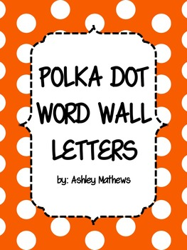 Polka Dot Word Wall Letter Pennants