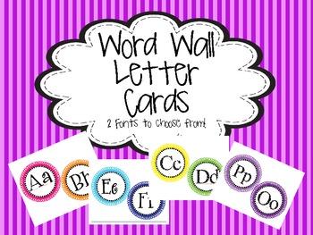 Polka Dot Word Wall  Letter Printable