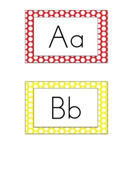 Polka Dot Word Wall Letters