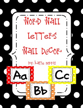 {Polka Dot} Word Wall Letters-Wall Decor