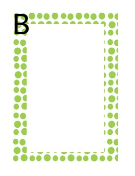 Polka Dot Word Wall Pages