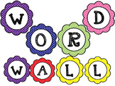 Polka Dot Word Wall Set