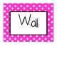 Polka Dot Word Wall Signs