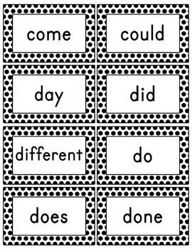 Polka Dot Word Wall (With Editable PDF) with Headers