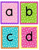 Polka Dot Word Wall letters or Alphabet Flash Cards