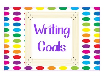 Polka Dot Writing Goal Clip Chart
