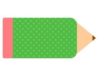 Polka Dot Writing Process Pencil Bundle