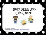 Polka Dot and Bee Theme Job Chart