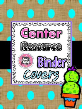Polka Dot and Cactus Friends Center Resource Binder Covers