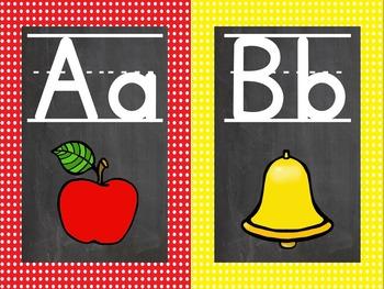 Polka Dot and Chalkboard Alphabet