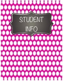 Polka Dot and Chalkboard BINDER COVERS!!