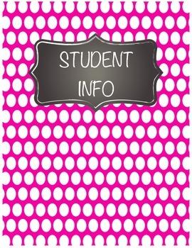 Polka Dot and Chalkboard BINDER COVERS!!