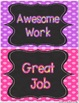 Behavior Clip Chart: Polka Dot and Chalkboard!