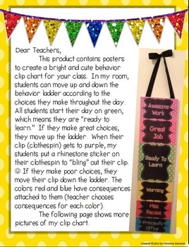 Behavior Clip Chart: Polka Dot and Chalkboard!