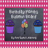 Polka Dot and Chalkboard Birthday Calendar Months