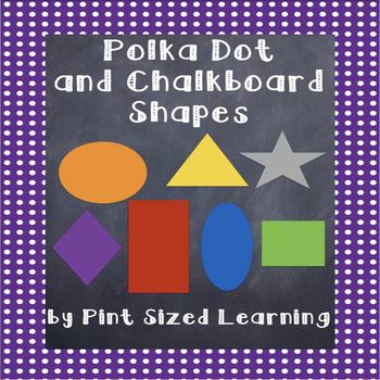 Polka Dot and Chalkboard Shapes