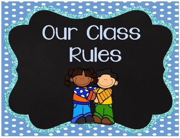 Polka Dot and Chalkboard Themed Class Rules