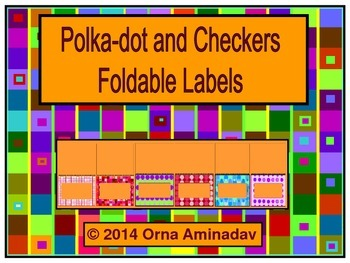 Polka Dot and Checkers Foldable Labels