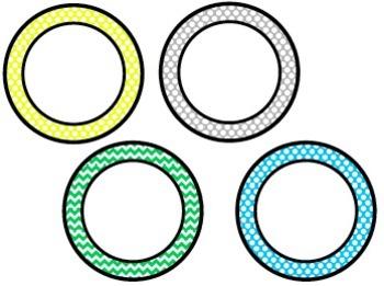 Polka Dot and Chevron Display