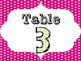 Polka Dot and Chevron Table Numbers