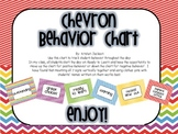 Polka Dot and Chevron Theme Behavior Chart