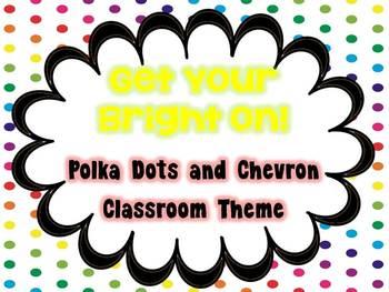 Polka Dot and Chevron Themed Classroom Decor