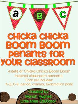 Polka Dot and Chicka Chicka Boom Boom Pennant Banners for