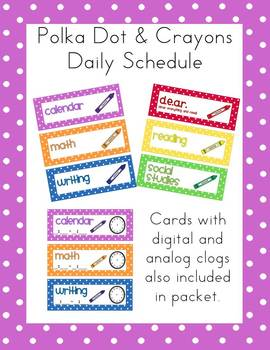 Polka Dot and Crayons Class Schedule (Editable)