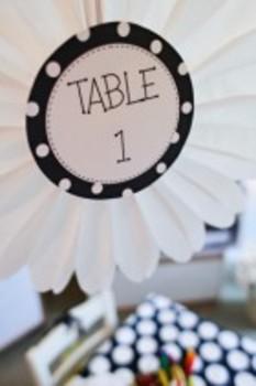 Classroom Decor Polka Dot and Daisy Table Signs