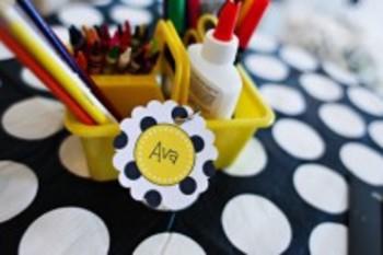 Classroom Decor Polka Dot and Daisy Tags