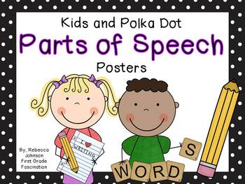 Polka Dot and Kids Parts of Speech posters