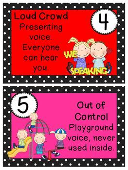 Polka Dot and Kids Voice Level posters
