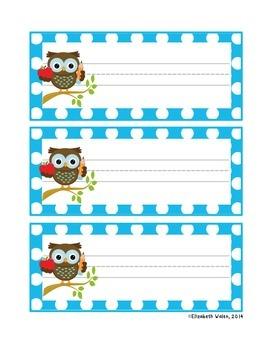 Polka Dot and Owl Nameplates