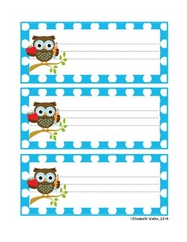 Polka Dot and Owl Nameplates