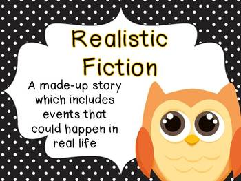 Polka Dot and Owl Reading Genre posters