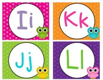 Polka Dot and Owl Word Wall Headers
