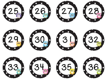 Polka Dot and Owl numbers