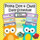 Polka Dot and Owls Class Schedule - Editable (2 options included)