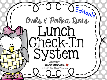 Polka Dot and Owls Lunch Check In