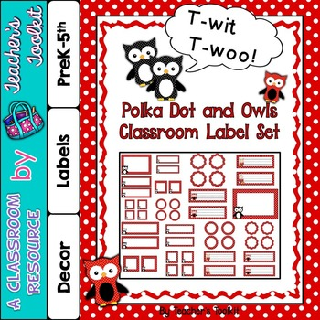 Polka Dot Themed Classroom Label Set Plus Editable Files {UK Teaching Resource}