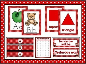 Polka Dots and Owls Room Theme Classroom Decor {Editable}
