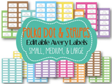 Polka Dot and Stripes Editable Labels THREE SIZES!  (Avery