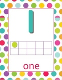 0-20 Polka Dot background Number Posters with dot blocks a