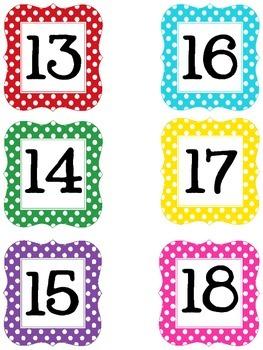 Polka Dot desk numbers