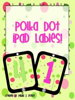 Polka Dot iPad Labels!
