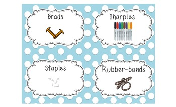 Polka Dot it!  (Labels for an effectively organized classroom)