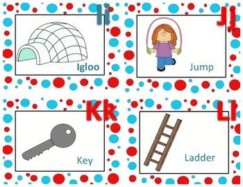 Polka Dot letter sound cards