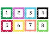 Polka Dot numbers cards 1-100