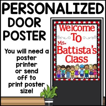 Polka Dot (or chevron) customizable Welcome Sign