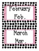 Polka-Dot themed Months of the Year